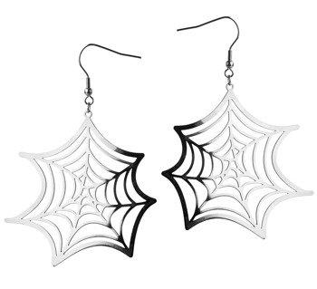 kolczyki SPIDER WEB SILVER, para