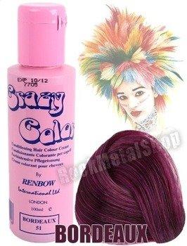 toner do włosów CRAZY COLOR - BORDEAUX [051]