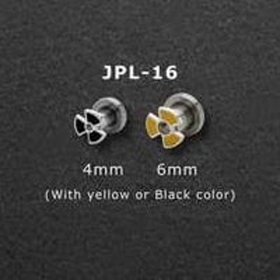 PIERCING TUNEL RADIOACTIVE BLACK [JPL-16]