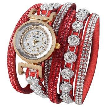 bransoletka/zegarek LUXURY RED