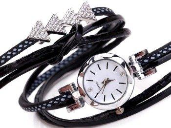 bransoletka/zegarek PUNK BLACK