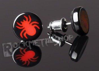 kolczyk RED SPIDER czarny