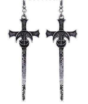 kolczyki SILVER SWORDS, para