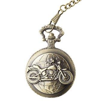zegarek + łańcuszek  VINTAGE STEAMPUNK MOTORCYCLE