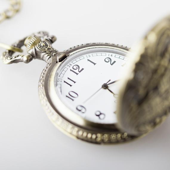 zegarek + łańcuszek  VINTAGE STEAMPUNK LOCOMOTIVE